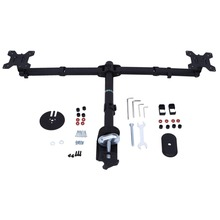 3 Fully Adjustable Joints and Dual 2 bay Monitor Mount Desk Mount  for 2 Monitors Swiveling BE