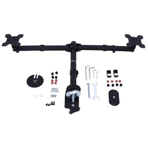 Image 1 - 3 Fully Adjustable Joints and Dual 2 bay Monitor Mount Desk Mount  for 2 Monitors Swiveling BE