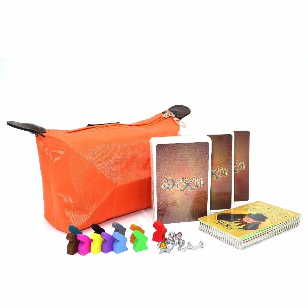 Karte spiele DIXIT kinder bord spiele, tisch spaß familie spielkarten Englisch Russische regeln 12 spieler