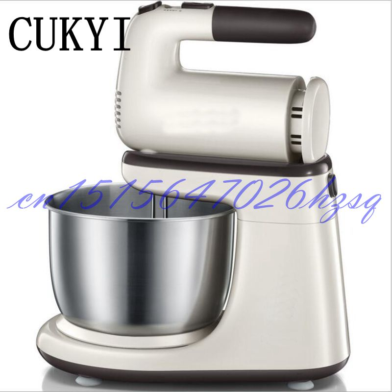 CUKYI Household Electric 200W desktop handheld Multifuntion fully automatic electric beater with barrel and pastry cream machine cukyi household electric multi function cooker 220v stainless steel colorful stew cook steam machine 5 in 1