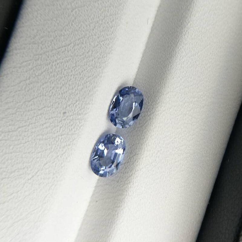 Tbj Natural light color blue sapphire oval cut 4 6mm 0 5 ct blue sapphire for
