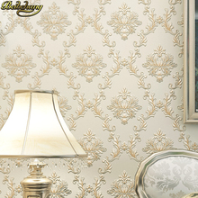 beibehang European fine Damascus wallpaper bedroom living room TV background Embossed 3D Luxury Damask Wall paper Roll flooring beibehang chinese rich floral pattern gold foil paper gold living room bedroom tv background works wallpaper 3d flooring