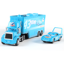 Cars Disney Pixar Cars Mack Uncle No.43 King Diecast Metal Plastic Toy Car Loose 1:55 Brand New In Stock Disney Cars 3