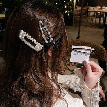 Elegant Pearls Hair Ornament Clips Hairpins Barrettes for Women Girls 1