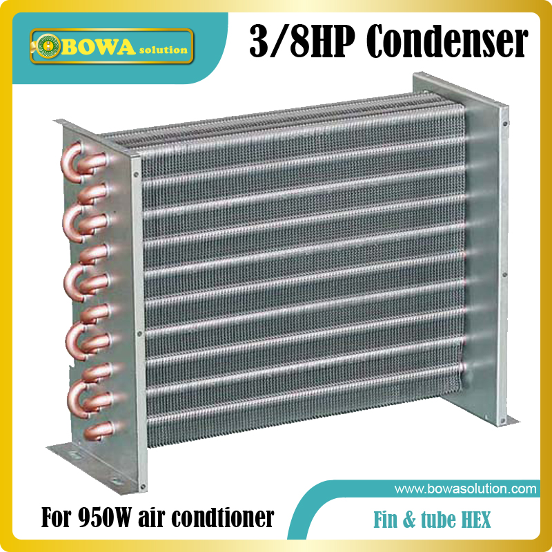 3/8HP fin & Tube heat exchanger suitable for wine cooler, cabin air condtioner or solar freezer and air condtioners 1560w monoblock refrigeration unit suitable for 10m3 beverage cooler or bottle cooler room