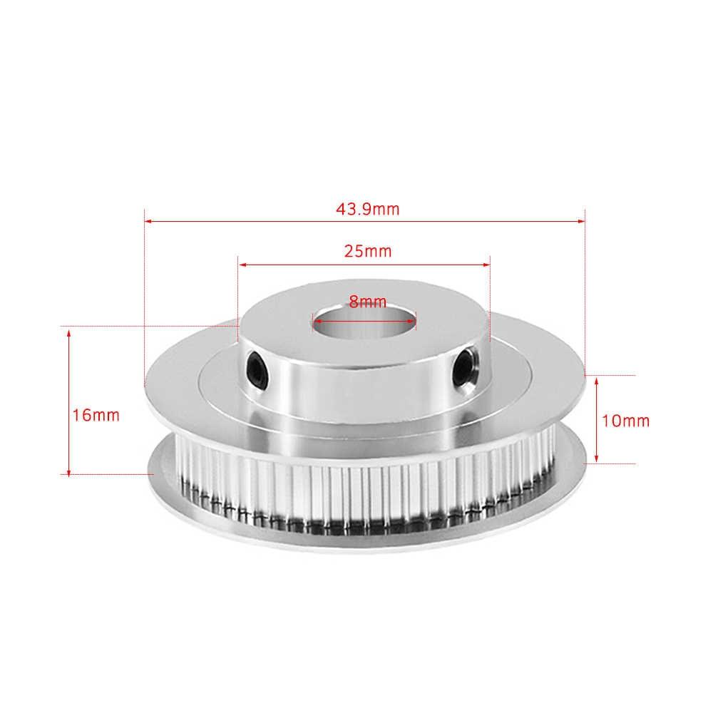 "Aibecy אלומיניום GT2 עיתוי גלגלת 60 שיניים 60 T 5mm נשא סינכרוני גלגל עבור 6 מ""מ רוחב 3D מדפסת GT2 עיתוי חגורה"