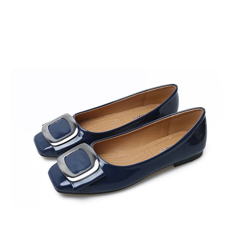 4e3836571b75 Jiasuer Summer Female Footwear Large Sizes 35 41 Square Toe Fashion Women s  casual ballet flat Shoes Leisure Ballerinas Flats-in Women s Flats from  Shoes on ...