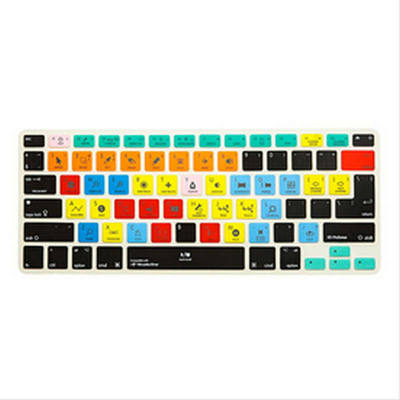 (2pcs)Shortcut Keyboard Skin Cover Ableton Live Logic Pro X Avid Tools For iMac,Macbook Pro Air retina13 15 KC A1278 Avid Media