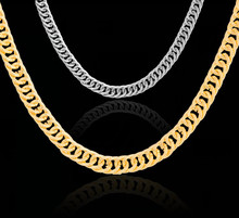 цены 8mm New brand necklace wholesale 2018 retro punk plated gold silver chain ladies / men's jewelry