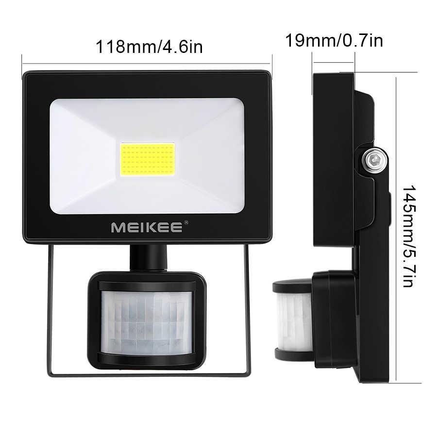 Meikee 10 Вт Светодиодный прожектор движения Сенсор Водонепроницаемый AC110V 220 V Светодиодный прожектор лампа с отражателем наружный Галогеновый свет