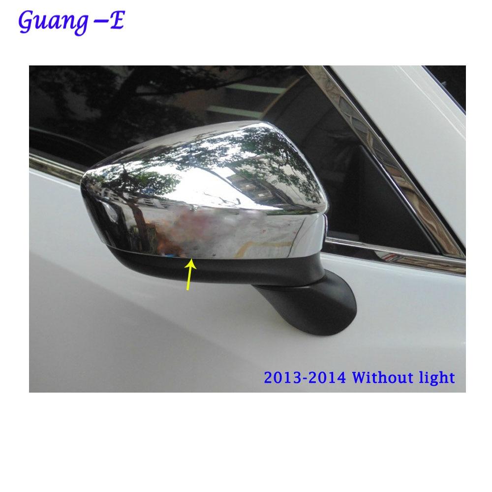 Bil ABS krom dekorationsstikker bagfra set bagfra Sideglas Spejl - Bilreservedele - Foto 4