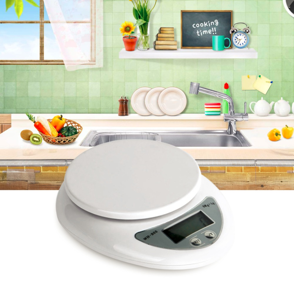1pcs New Hot Selling 5kg 5000g 1g Digital Kitchen Food Diet Postal Electronic Balance Scale Multi-unit display