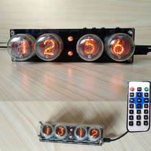 4 bit digital nixie brilho tubo relógio + controle remoto com acrílico caso para SZ3 1 zm1020 z2560m tubo/5v a 170v módulo de impulso