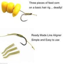 JSM 18pcs 3packs Carp Fishing Hair sabiki Rigs Braided Thread High Carbon Steel rigs fishing hook with line Swivels