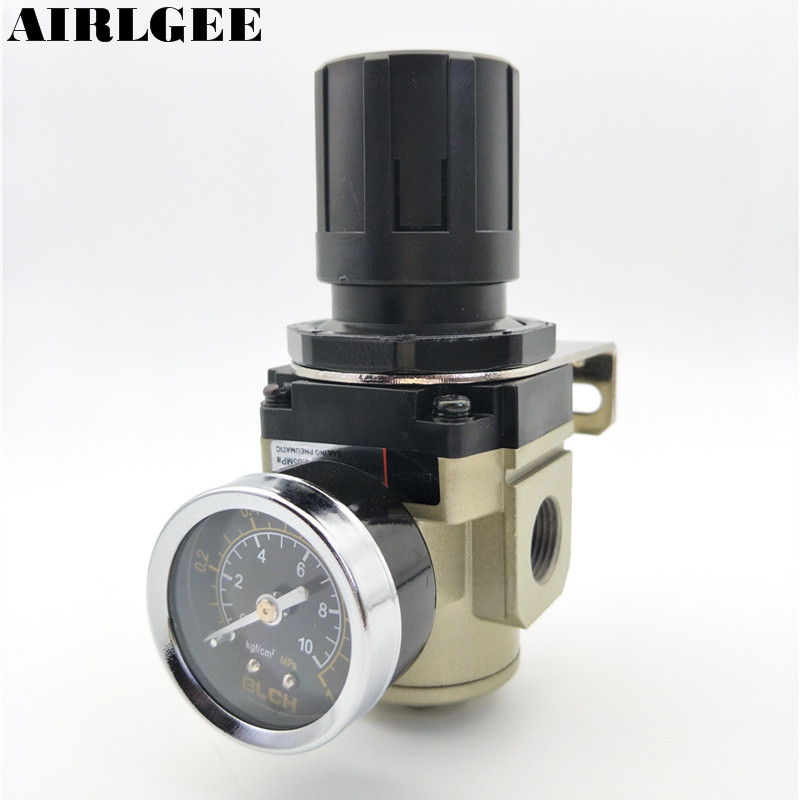 AR3000-03 3/8PT Thread Pressure regulating valve Air Pneumatic Filter Regulator w 0-1MPa Adjustable Gauge Free shipping tube size 14mm 1 4 pt thread pneumatic
