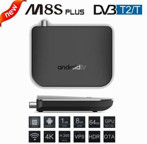DVB-T2 8G RAM 2.4G 100 M Support 4 K H.265 DVB T2 Mini Thin M8S Plus DVB Media