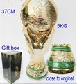 top quality 5 kg  Resin World Cup Trophy Model 1:1 Full Size RESIN world trophy cup with peacock stripe basement