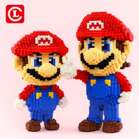 5113pcs Cartoon Connection Blocks Anime Building Bricks Model Mario Block Kitty Auction Figure Toy For Children Gifts Girls