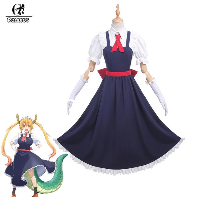 Rolecos nuevo anime kobayashi san chi no maid maid disfraces cosplay dragón dragón de srta. kobayashi tooru cosplay disfraces completo conjunto