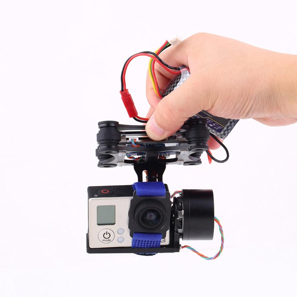 RTF FPV 2 Axles Brushless Gimbal for DJI Phantom Gopro 2 3 Metal Brushless Camera Gimbal w/ Motors & Controller brushless aluminum camera mount gimbal ptz for dji phantom gopro 2 3 3 4 silver rc006