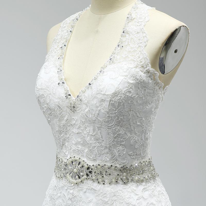 Vintage Lace Appliques Mermaid Wedding Dress
