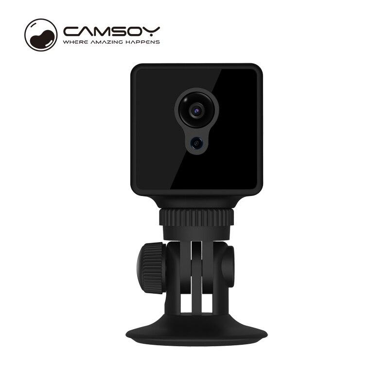 Camsoy S8 mini caméra WiFi Vision nocturne caméscope HD 720 P TF carte sans fil vidéo cachée détection de mouvement voiture secrète usage domestique