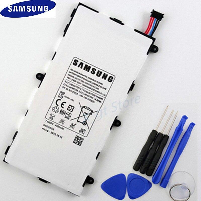 100% Оригинальные samsung Замена Батарея 4000 мАч T4000E для samsung GALAXY TAB 3 7,0 SM-T210 T211 P3200 T210R + бесплатная инструменты ...