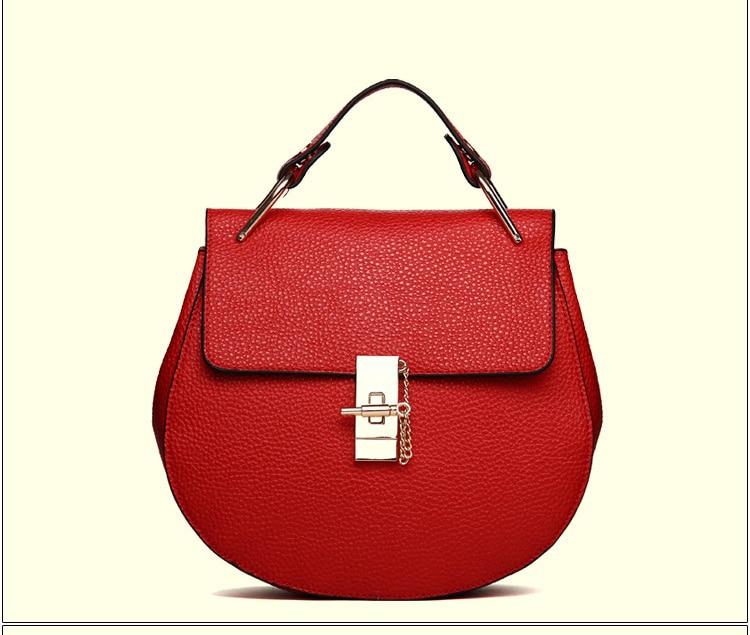 Brand Designer Chain Piggy Bags Fashion Grained Women Handbags (2)