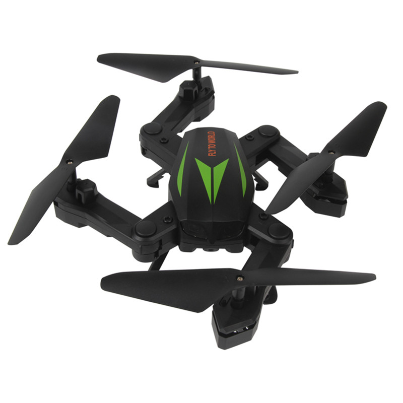 RC Quadcopter Drone F12W 2.4G 6-Axis Altitude Hold HD Camera 30W WIFI FPV Selfie Foldable Nacome – Dark green