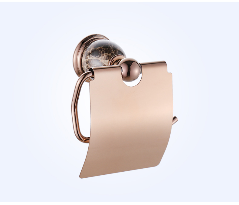 European Ceramic Polished Toilet Paper Holder Antique Brass Rose Gold Tissue Roll Holder Tissue Box Bathroom Accessories bj1 free shipping jade & brass golden paper box roll holder toilet gold paper holder tissue box bathroom accessories