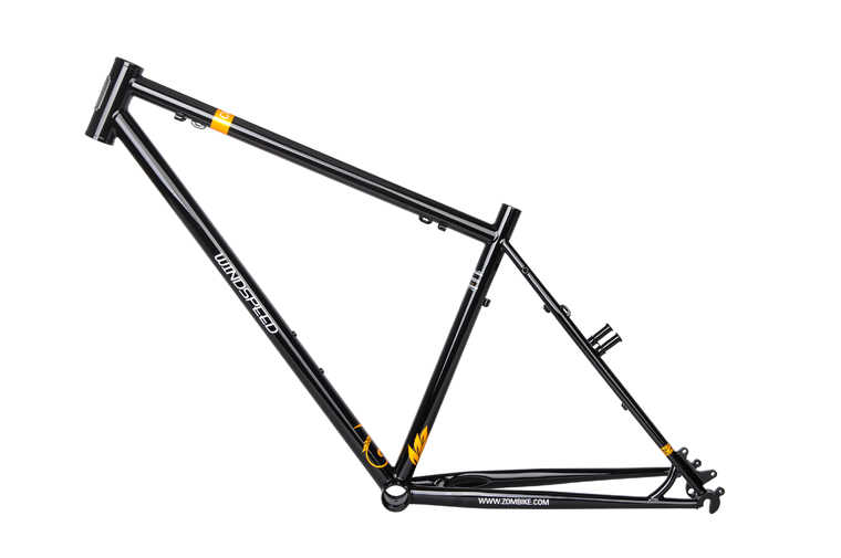 Darkrock Windsnelheid CR-9 Mtb Frame Vork 26 ''DISC-V Rem CR-MO Staal 4130 Mountainbikes Onderdelen Gloss Black