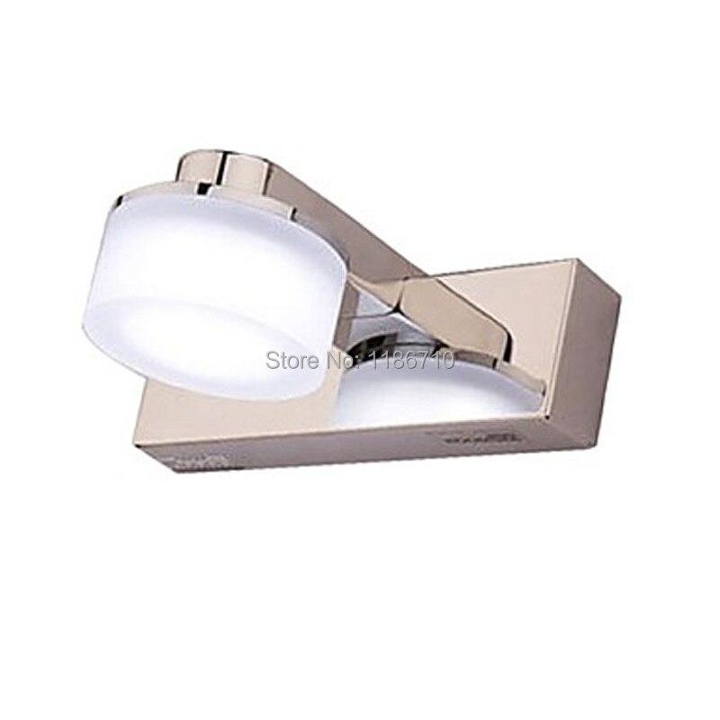Современные светодиодные лампы на стенах 1 Свет художественный Нержавеющаясталь покрытие настенный светильник Бесплатная доставка