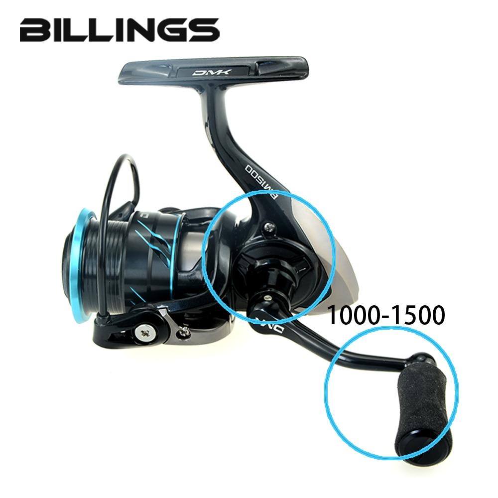 2018 DMK 1000-1500 Size Spinning Seawater Light Line Cup Fishing Reel 5.2:1/11+1BB CNC Rotary Handle EVA Grip Graphite Body