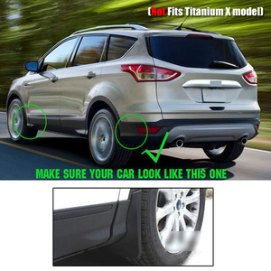Image 3 - For Ford Escape Kuga 2013 2014 2015 2016 2017 2018 2019 Front Rear Mud Flap Mudflaps Guard Mudguards Splash Fender Accessories