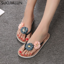 Women Flip Flops Shoes Slippers 2018 Summer Outside Sandals Mujer Beach Flats Slides Casual Flowers Sandals vtota women sandals 2017 flip flops flats shoes sandals woman rhinestone casual sandalias mujer ladies beach summer shoes a6