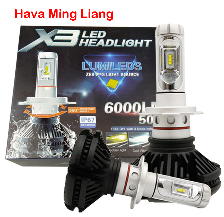 Super Bright 50w 12000lm 3000k 6500k 8000k S1 All In One X3 Car Led Headlight Auto Headlamp 6000lm Bulb H4 H7 H8 H11 H16 H1 H3 Nourishing The Kidneys Relieving Rheumatism Car Headlight Bulbs(led)