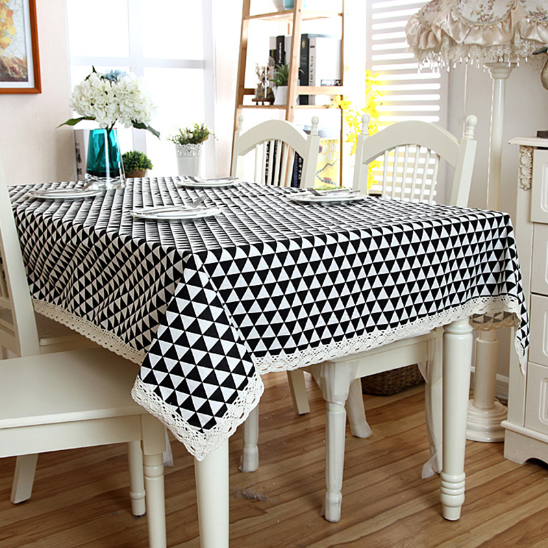 1 X Tablecloth 1pcs Triangular Geometry Style Lace Coffee Table Cloth Stylish Simplicity Dining Specification