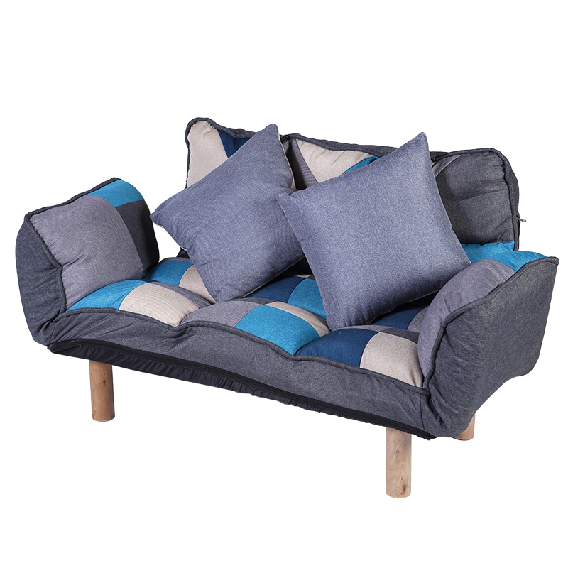 Astounding Us 199 0 Modern Folding Lazy Sofa Futon Lounger Loveseat Wood Legs And Adjustable Armrests Backrest Living Room Foldable Studio Sofa In Living Room Pdpeps Interior Chair Design Pdpepsorg