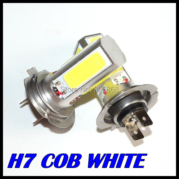 2X High Power Lamp H7 led light White COB LED Fog DRL Car LED SMD Day Driving Bulb Auto Lamp cob 20w led car headlight 9005 hb3 9006 hb4 7 5w high power cob led bulb car auto light source projector drl fog headlight lamp white yellow