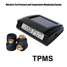 Photo voltaic Energy Wi-fi Tire Stress Monitoring System Automotive TPMS with 4pcs Exterior sensor