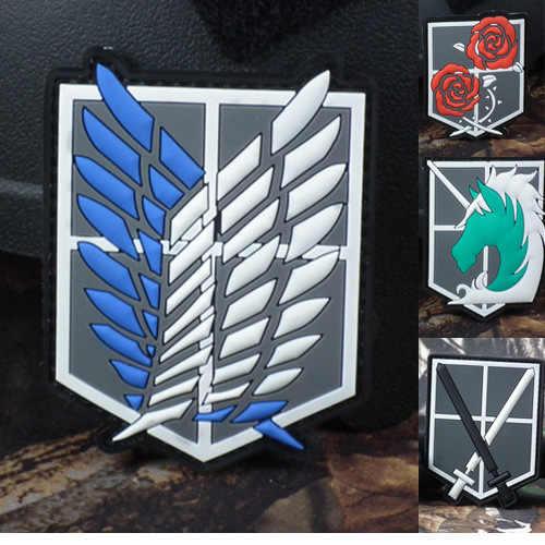 1PC guma pvc żywicy epoksydowej opaska na ramię taktyczna wojskowa odzież z odznaką Titan ubrania sportowe Patch Star Wars czaszka akrylowe epaulette