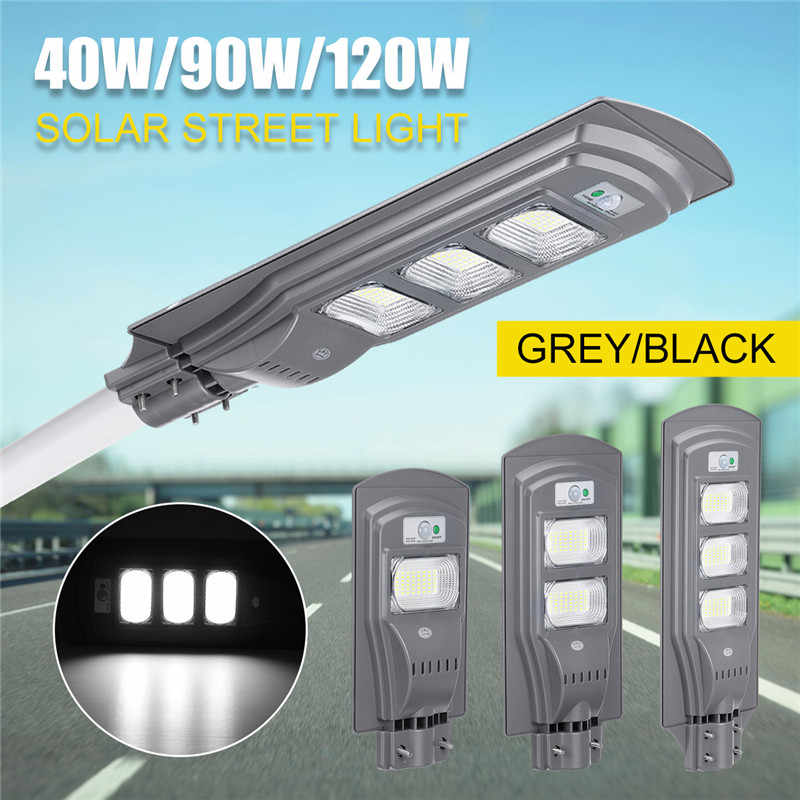 40W/90W/120W LED Solar Lamp Wall Street Light Dusk to Dawn Motion Sensor Waterproof Security Lamp Solar Lamp for Garden Yard