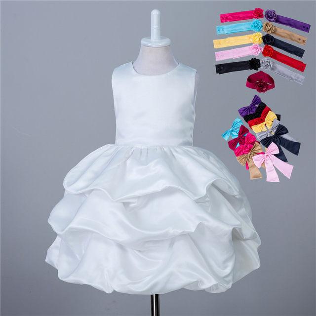 Online Shop Latest Childrens Fancy Short Puffy Kids Wedding Gown ...