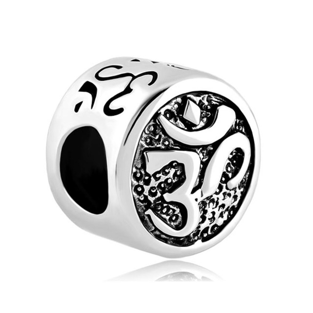 Om Symbol Aum Love Yoga Lucky Beads Charms Bracelets Fit All Brands