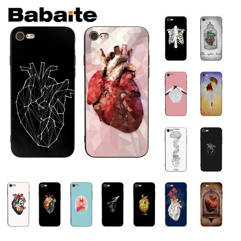 Babaite Medical Human Organs Brain Meridian Kidney Art Phone Case for iPhone 8 7 6 6S Plus X XS MAX 5 5S SE XR 11 11pro 11promax
