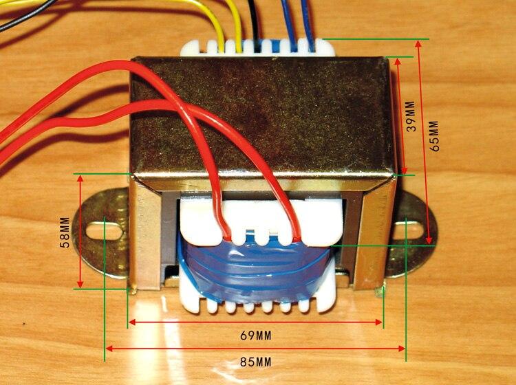 EI66X35 Input 220V output 0V 230V 290V 0 2A 6 3V 4A transformer for Tube amplifier
