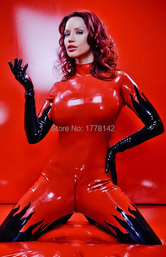 100% Latex caoutchouc Gummi Zentai Catsuit body ensemble costume uniforme porter Cosplay