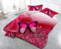 3D Bedding Set Flowers butterflies Print Bedding Sets