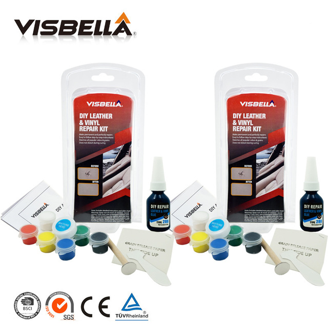 Visbella 2pcs Leather Vinyl Repair Kit Auto Car Seat Sofa Coats ...