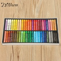 KiWarm Hot Selling 50 Colors Oil Pastels Chalks Set Soft Pastel Crayons Drawing Pens For Student